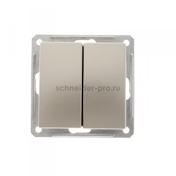 Переключатель двухклавишный (вкл/выкл с 2-х мест) 16 А 250 В, W59 шампань, VS616-256-4-86 купить по цене 285 руб. | Интернет-магазин Schneider-pro.ru