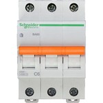 Schneider Electric Домовой ВА63 Автоматический выключатель 3P 6A (C) 4.5kA, Schneider Electric