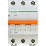 Schneider Electric Домовой ВА63 Автоматический выключатель 3P 40A (C) 4.5kA, Schneider Electric