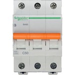 Schneider Electric Домовой ВА63 Автоматический выключатель 3P 50A (C) 4.5kA, Schneider Electric