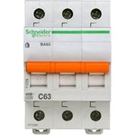 Schneider Electric Домовой ВА63 Автоматический выключатель 3P 63A (C) 4.5kA, Schneider Electric
