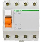 Schneider Electric Домовой ВД63 УЗО 4P 40A 30mA AC, Schneider Electric